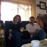 Eva Vaz y JLP. Casa de Rocío y Luis, hace poco.