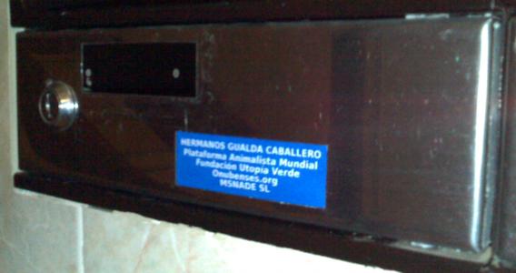 Buzón de los Hermanos Gualda Caballero (por la R�a de Huelva)