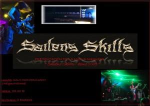 Cartel del Concierto de Sailens Skills