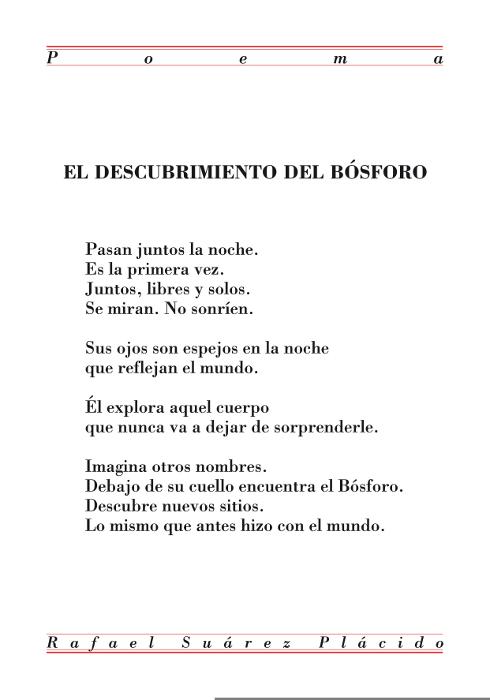 El descubrimiento del Bósforo. Rafael Suárez Plácido.