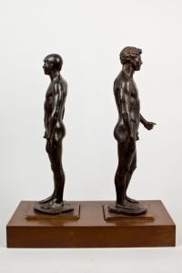 Dos desnudos masculinos, de Miguel García Delgado