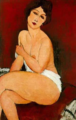 Nu assis sur un divan (Amadeo Modigliani)